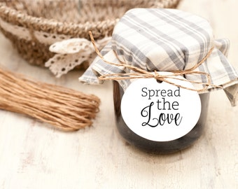 Spread the Love wedding Favor Tags, Wedding Favor Labels, favor tag, instant download PDF