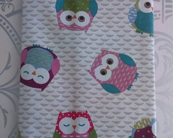 """Protection health book or notebook cotton """"Owls"""""""