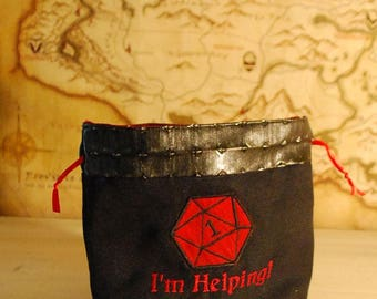 I'm Helping! Dice Bag (Made to Order)