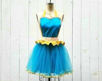 Princess Jasmine Costume apron, Jasmine Running Costume apron, costume apron, Princess running costume apron, womens Jasmine tutu