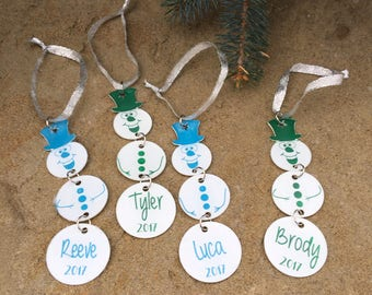 Personalized Snowman Ornament - Laser Cut and Engraved