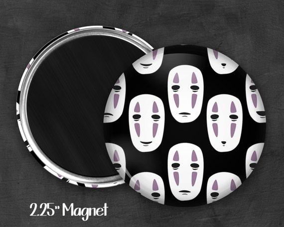 """2.25"""" No Face Magnet, Geek Magnet, Geekery, Magnet Button,  Kawaii Magnet, Refridgerator Magnet, Fanart, Fandom"""