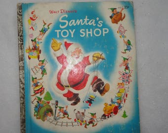 Vintage Little Golden Walt Disney's 1950 Edition Santa's Toy Shop, Christmas Story, Christmas, Santa's Toy Shop, Holiday Story, Christmas
