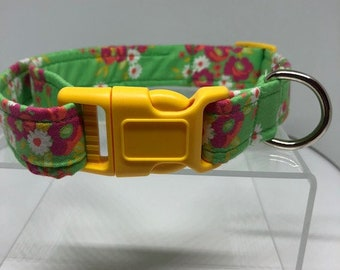 Green Floral Dog Collar (Donation made to ASPCA)