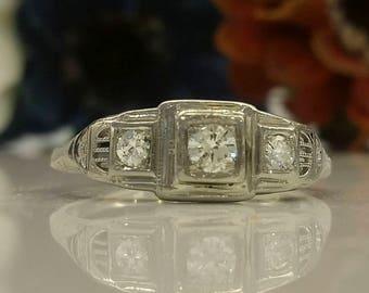 Vintage Three-Stone Ring