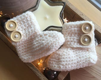 Baby boots crochet baby shoes