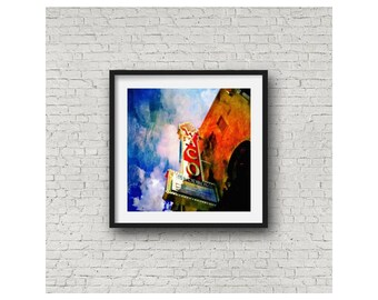 Waco Hippodrome Texas Theatre Iconic Landmark Waco Texas Limited Edition Wall Art Giclee Square Print