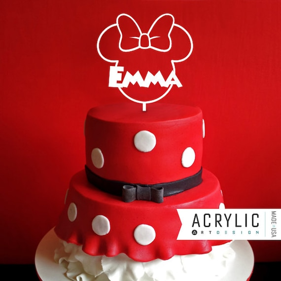 Minnie Mouse Cake Topper First Birthday Mickey Ears Mickey