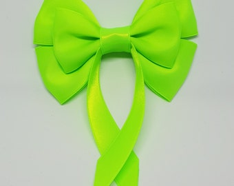 Lime Green Swallow Tail Hair Bow