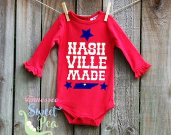 Tennessee baby etsy nashville made clothing made in nashville nashville tennessee made tennessee born negle Images