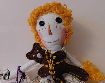 Daisy Art Doll. Collectible. 14""