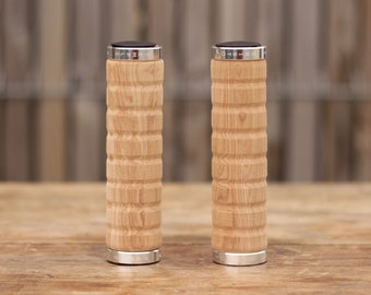 Wood effect bike grips - lock on - Temple Cycles