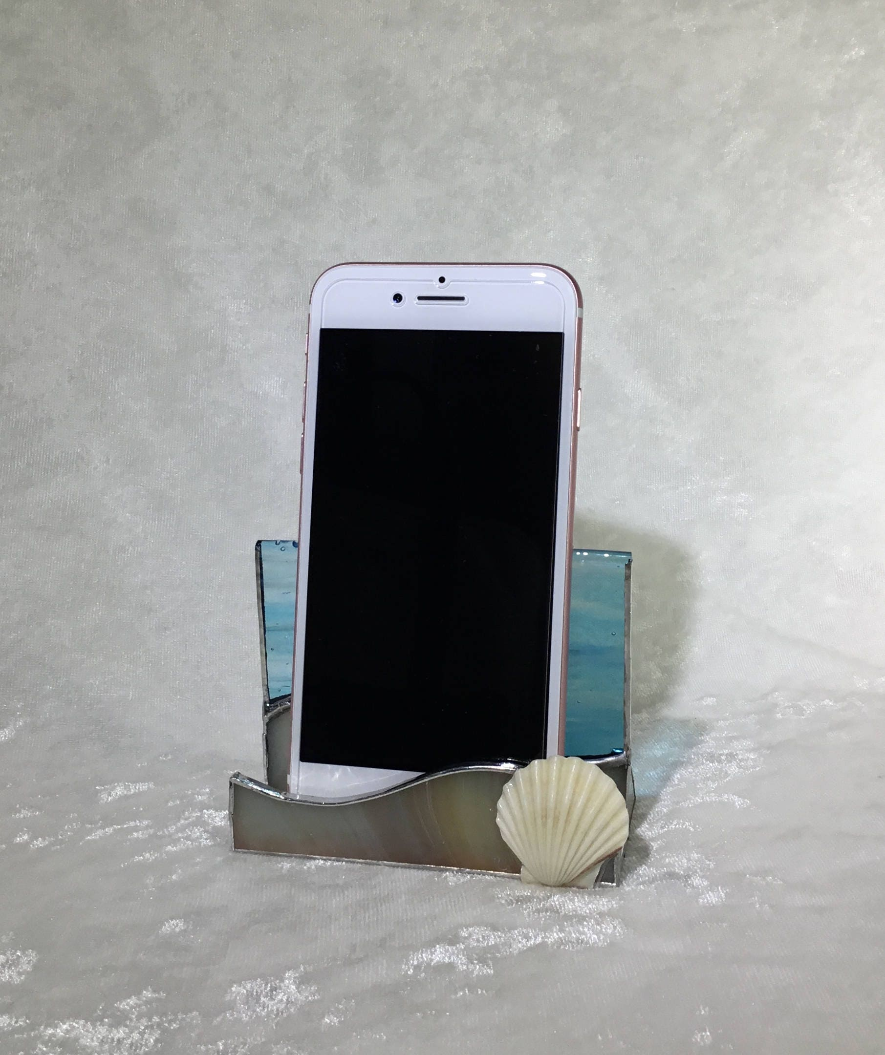 Stained glass phone stand business card holder seashell beach ocean gallery photo gallery photo gallery photo colourmoves