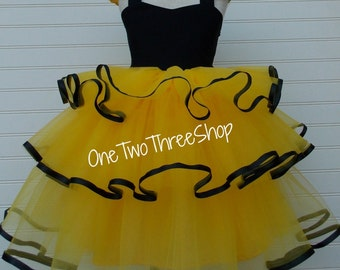 Bumble bee inspired tiered Dress