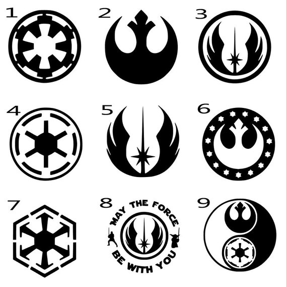 Star Wars Decal Rebel Alliance Decal Galactic Empire Decal