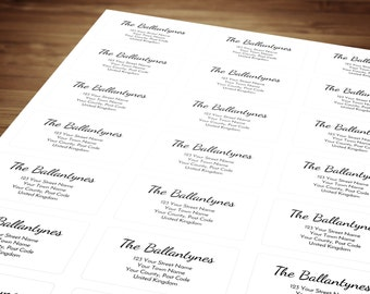 Personalized Custom Return Address Label Stickers For Mail / Postage, Envelopes, Parcels & Gift Wrapping