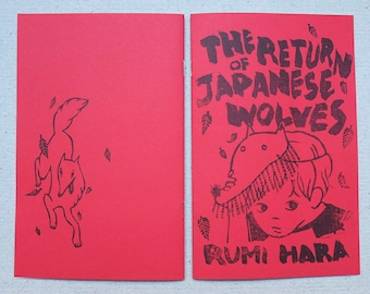 The Return of Japanese Wolves - riso printed minicomic