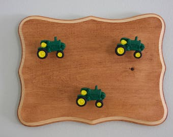 John Deere wall decor, John Deer hooks, John Deer bedroom decor, John Deere coat hanger, John Deere towel hanger, John Deere home decor