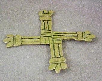 Ceramic Saint Brigid's Celtic Cross