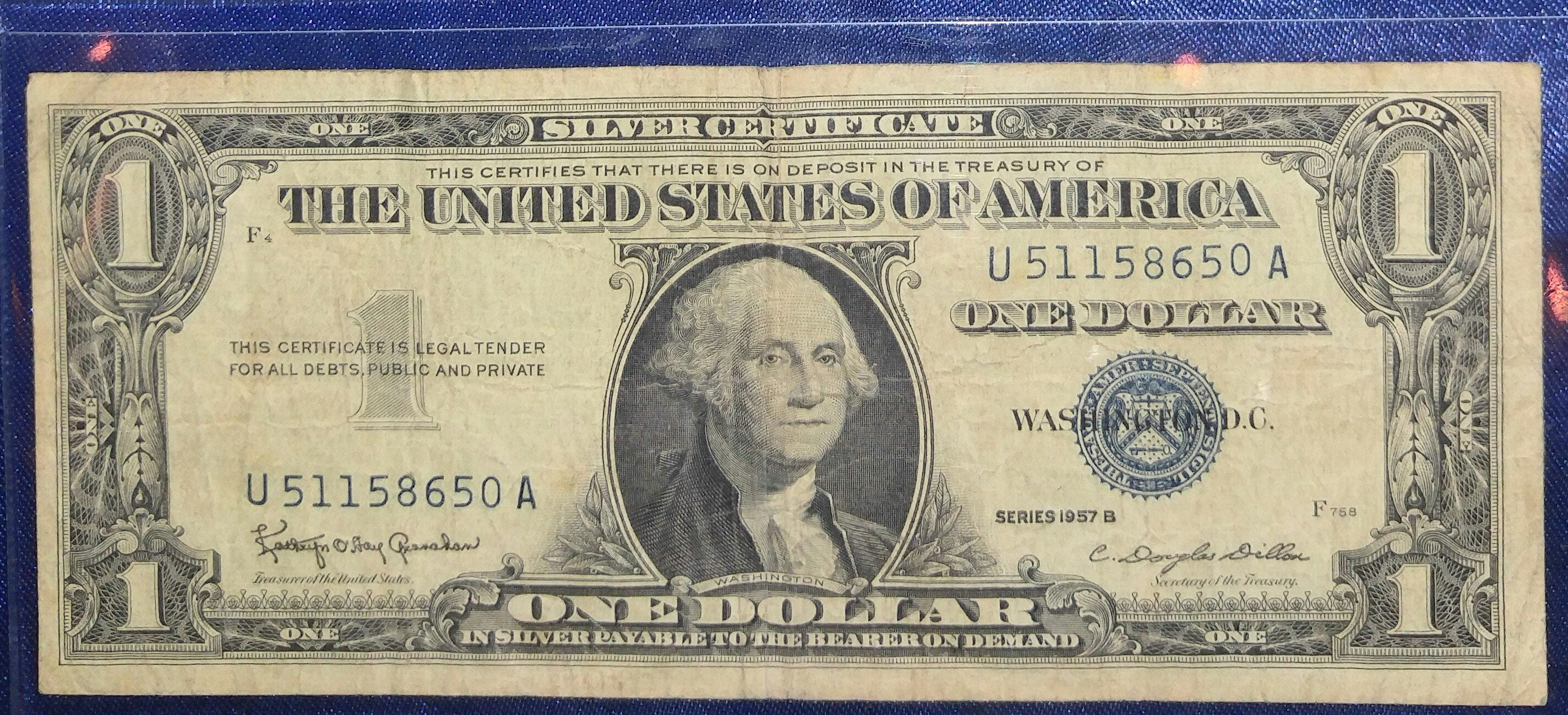 1957 b blue seal 1 dollar bill good condition zoom 1betcityfo Images