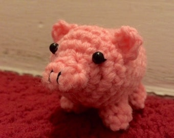 Little Crochet Plush Pig