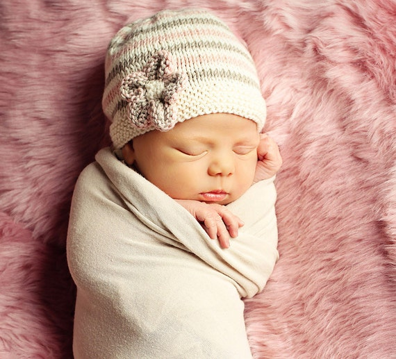 Baby Hat Knitting Pattern PDF Pattern Easy Knit Baby Hat