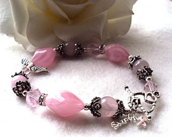 Breast Cancer Survivor Bracelet - Custom made designs