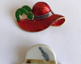 Two Vintage Hat Brooches - Pins