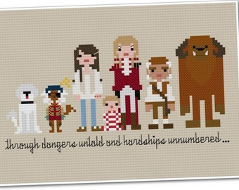 Pixel People - Labyrinth - PDF Cross Stitch Pattern - INSTANT DOWNLOAD