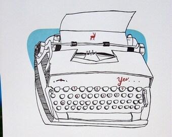 letterpress yes typewriter
