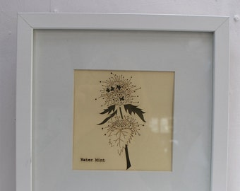 Botanical Framed Laser Cut in 'Mint Thistle'