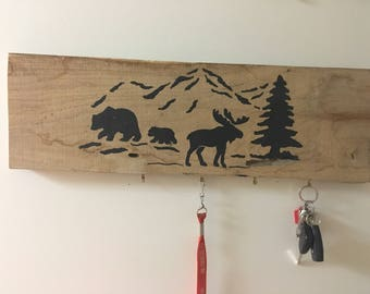 Mountain key hanger