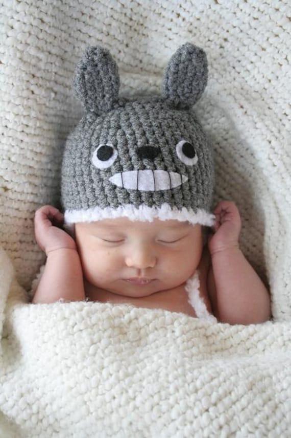 Crochet Totoro Hat Newborn Made To Order