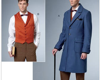 Sewing Pattern Butterick 6502 -Men's Fantastic Beasts and Where to Find Them Vest and Coat Size 38-44