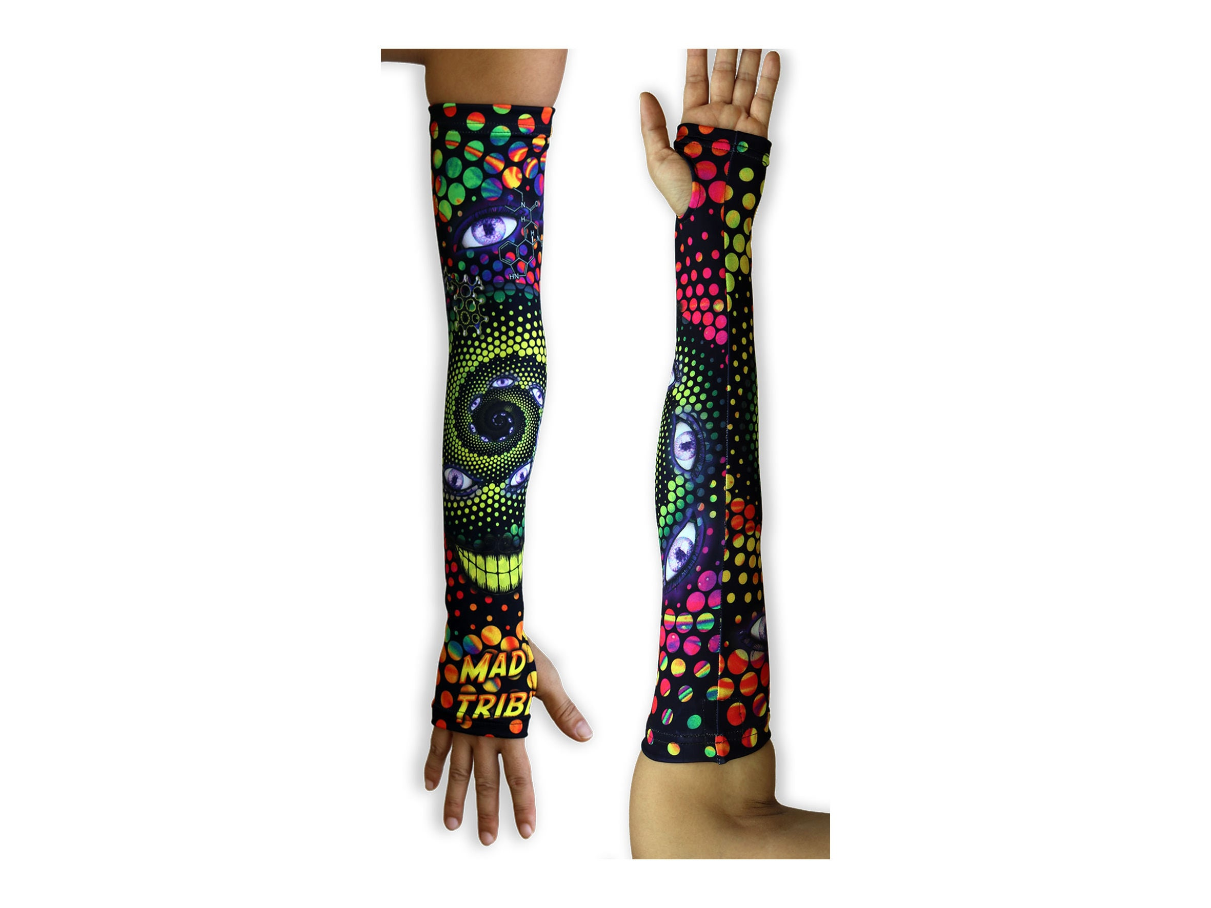 Arm sleeves LSD Party by Mad Tribe. 2 Trippy arm