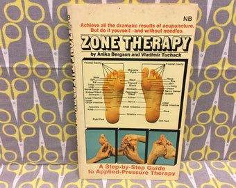 Zone Therapy by Anika Bergson and Vladimir Tuchack paperback book vintage acupuncture applied pressure