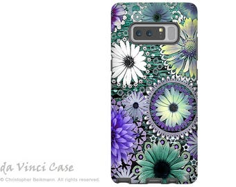 Floral Galaxy Note 8 Case - Purple and Green Daisy Case for Samsung Galaxy Note 8 with Floral Art - Tidal Bloom - Premium Dual Layer Case