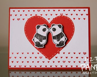 Panda Anniversary Card