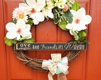 Spring Wreath, Wreath, Door Decor, Grapevine Wreath, Spring, Outdoor Wreath, Spring Decor, Front Door Wreath