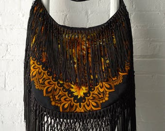 One-of-a-kind bohemian fringe bag