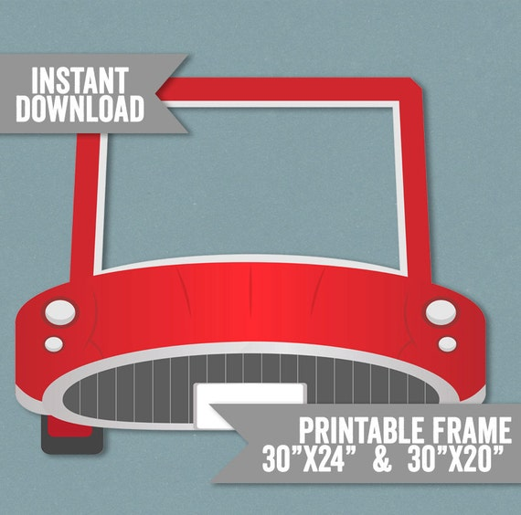 Coche marco Prop coche rojo para imprimir foto cabina marco