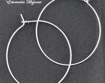 10 35 mm silver metal hoop
