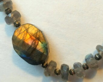 Labradorite & Apatite necklace/wrap bracelet
