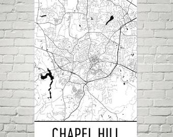 Old Well Print Chapel Hill Art UNC North Carolina Print Old