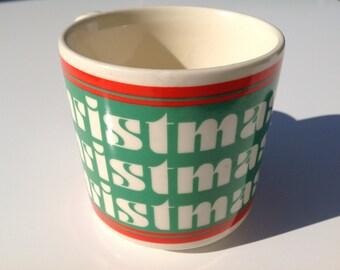 Vintage retro mug cup Cheer