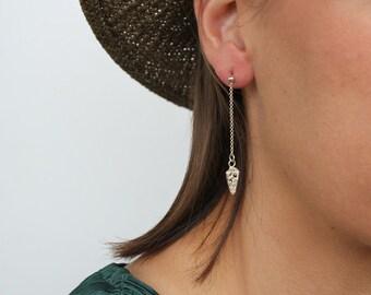 Drop Earrings , silver Dangle earrings