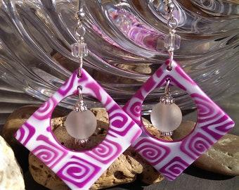 Pink Rose -earrings
