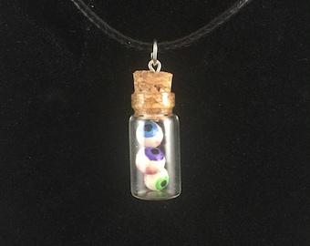Eyeball Bottle Charm Necklace