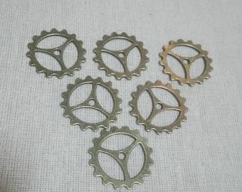 1 bronze gear charm