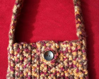 Boho Earth Tones Crocheted Purse